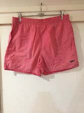 Speedo Mens Pink Casual Shorts Size L Good Condition