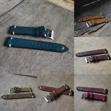 POP Straps Vintage Style Distressed Leather Wome/Men Watch Band Strap Stitching