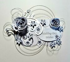 *NEW DESIGN *3D WEDDING DAY CARD CRAFT TOPPER, EMBELLISHMENT  WED-DAY-2