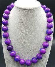Huge!14mm Purple Sugilite Gemstone Round Beads Necklace 18''