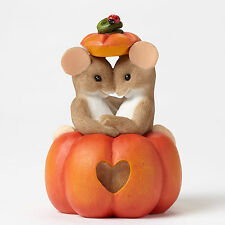 Charming Tails Pumpkin Eye to Eye Mouse Couple Fall 4046782 New Figurine