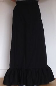 Late Victorian Edwardian style ladies Skirt, maxi full length with ruffle