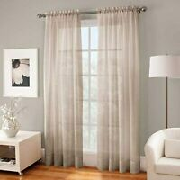 Kensington Home Fashion Crushed Voile Sheer 84-Inch Rod Pocket Window Curtain