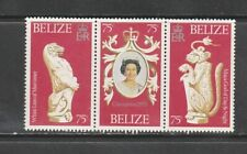 BELIZE CORONATION STRIP OF 3 MNH