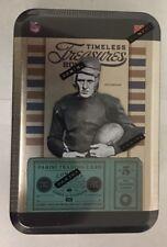 2011 Panini Timeless Treasures Factory Sealed Football Hobby Box Tin