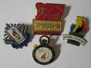 1996 Olympics Pins Lot 4 ATLANTA Opening & Closing Ceremonies 75 DAYS & 50 DAYS