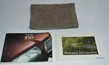 1995 VOLVO 850 OWNERS MANUAL GUIDE BOOK SET WITH CASE OEM