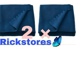 2 x IKEA POLARVIDE Blue Throws for Sofa - 130 x170 cm PROMOTIONAL PRICE, OFFER