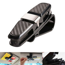 Auto Car Glasses Holder Sunglasses Clip Card Ticket Holder Carbon Fiber Style