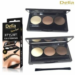 Delia Cosmetics Brow Satin Eyebrow Kit Set Brow Powder Palette with Angled Brush