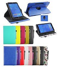 """Cuoio Flip Custodia Cover Rotante Stand Portafoglio Per 9 """" - 10 """" Tablet &"""