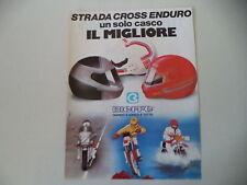 advertising Pubblicità 1985 CASCO HELMET BIEFFE STRADA CROSS ENDURO