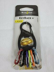 Nite Ize S-Biner KeyRack + Bottle Opener BL&SV Keychain w/Biner Clips (2-Pack)