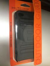 Shock proof Rubber W/clip  Hard Case Cover  Apple iPhone 4 4S