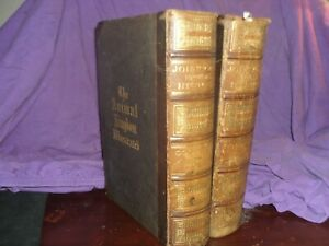 1867 JOHNSON'S NATURAL HISTORY IN TWO VOLUMES 1500 PAGES