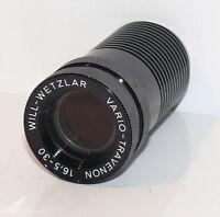 Projektor Objektiv Linse Will Wetzlar Vario Travenon 1,3/16,5-30 mm Super 8  W13