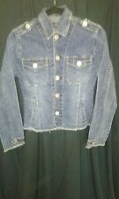 Women's Stylish Jean Jacket; Sz Small; Great Details and Fading