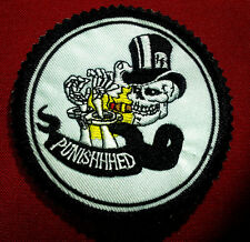 The Punished 3-1/4'' Round Skull, Patch, Free Shipping!!