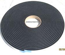 "Black Vinyl Foam Tape, 1/4"" Thick X 3/4"" W X 35' Long HD Sealer, Medium Density"