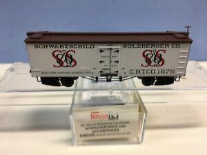 N Scale Micro Trains MTL 58020 Schwarzchild & Sulzberger CBTCo 1675