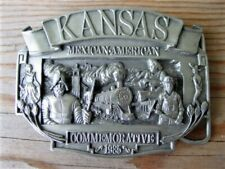 1985 Marked No. 249 of 1000 Kansas Mexican American Commemorative Belt Buckle