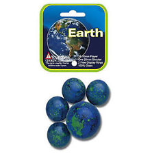 Mega Marble- 24 Collectible Marbles,1 Shooter, Net bag- Earth