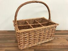 Wicker Basket - 6 Bottle Wine Carrier