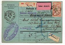 FRANCE colis postaux alsace Lorraine bulletin d'expédition mulhouse 3 TP fiscal