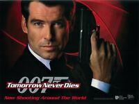 Tomorrow Never Dies movie poster  - Pierce Brosnan poster, James Bond 007