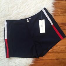 NWT $48 TOMMY HILFIGER Swim Women's S or M Shorts Navy Blue Color Block