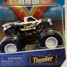 Monster Jam, THUNDER - WHITE Truck, Die-Cast Vehicle, 1:64 Scale