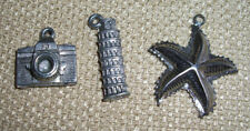 "Lot of 3 Pendants - Camera 1/2"", Tower 3/4"", Star Fish 1"""