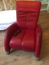 Beautiful Red Leather De Sede Electric Recliner Arm Chair