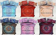 5 PC Wholesale Indian Mandala Queen Duvet Doona Cover With Cushion & Pillow Set