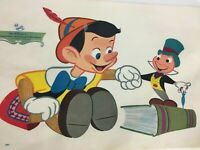 VINTAGE 1961 Walt Disney Pinocchio Jimmy Cricket Children PLACEMAT 17x11""