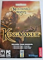 Neverwinter Nights Kingmaker Shadow Guard Witch's Wake Expansions NEW IN BOX! PC