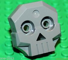 Lego Dark Bluish Grey Skull 1x4x3 Relief with two pins (47990) NEW!!!