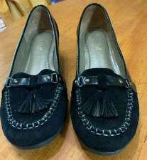 Van Dal Black Suede Wedge Shoes - size 6D