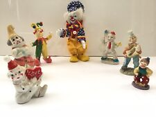 Set of 7 Decorative Clowns Figurines.