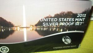 2013-S US Mint Silver Proof Set