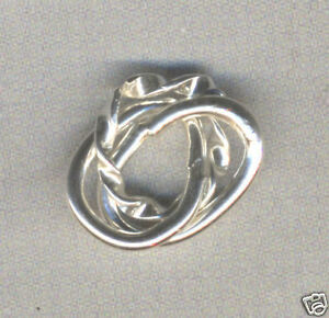 Sterling Silver Twisted Trio Beads for Charm Bracelet