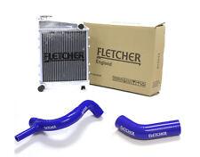 FLETCHER RADIATOR CLASSIC MINI 850cc 998cc WITH TOP & BOTTOM HOSES BLUE Y3269