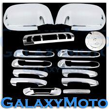 02-08 Dodge Ram Chrome Mirror+4 Door Handle+Tailgate+3rd Brake Light+Gas Cover