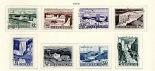 Iceland - Complete 1956 Waterfalls set of 8. Scott #289-296. USED