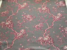 Ralph Lauren Curtain Fabric ASHFIELD FLORAL 1.65m Scarlet Linen Floral 165cm