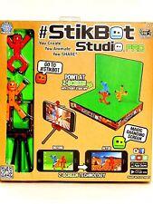 Zing Stikbot Studio Pro Toy Figure Stand Z Screen Green Hog Wild