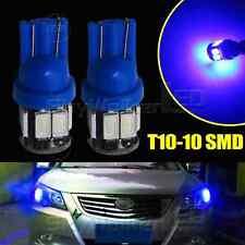 2pcs Blue T10 10SMD Wedge Interior Map Door LED Light Bulbs W5W 168 194