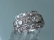 BREATHTAKING 1930's DECO  DIAMOND RING 18CT WHITE GOLD 1.30CT