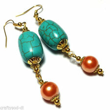 Drop/Dangle Round Stone Costume Earrings