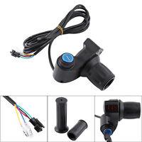 12V-99V Electric Scooter E-Bike Throttle Grip Handlebar LED Display Key Knock